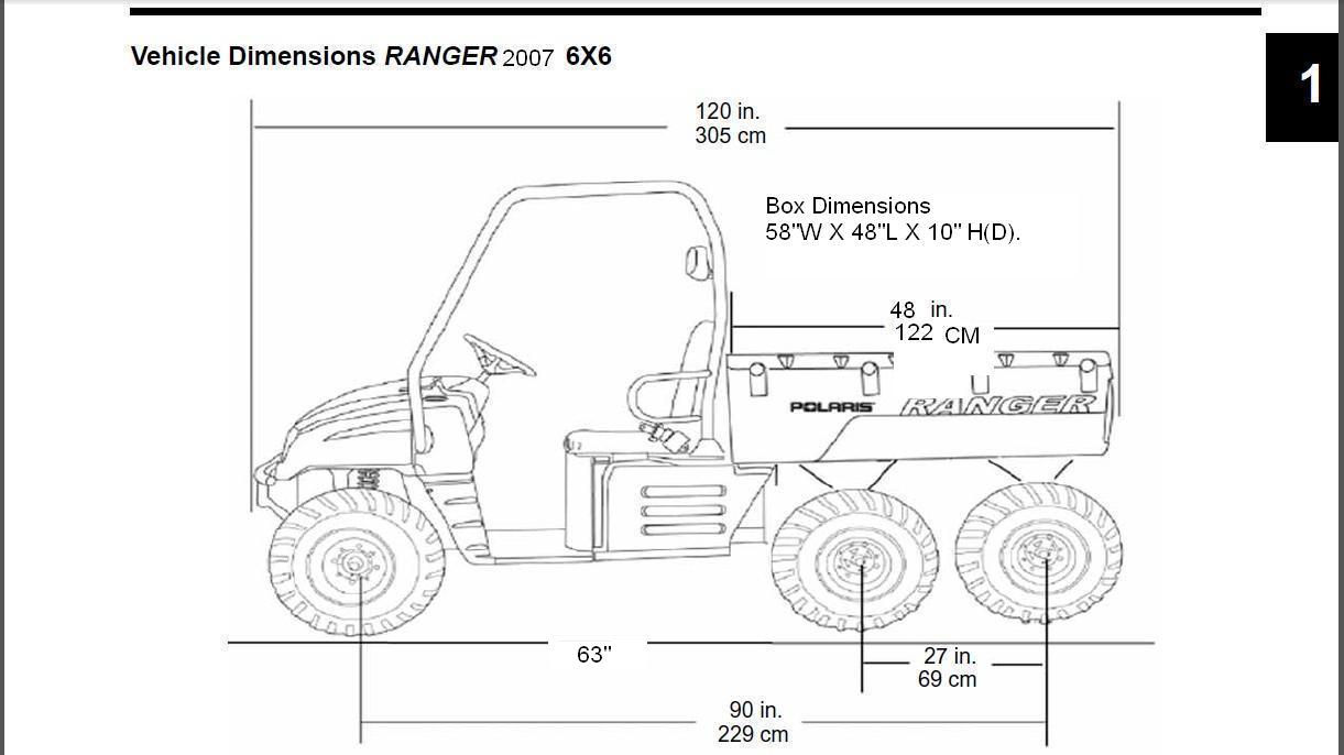 What S The Wheelbase S On A Pre 2010 Ranger 6x6