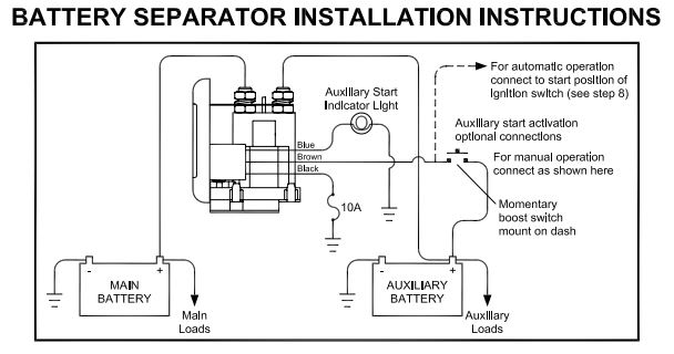 14072d1441765234 video dual battery setup separator 1314a wiring video dual battery setup with separator page 4 sure power battery separator wiring diagram at crackthecode.co