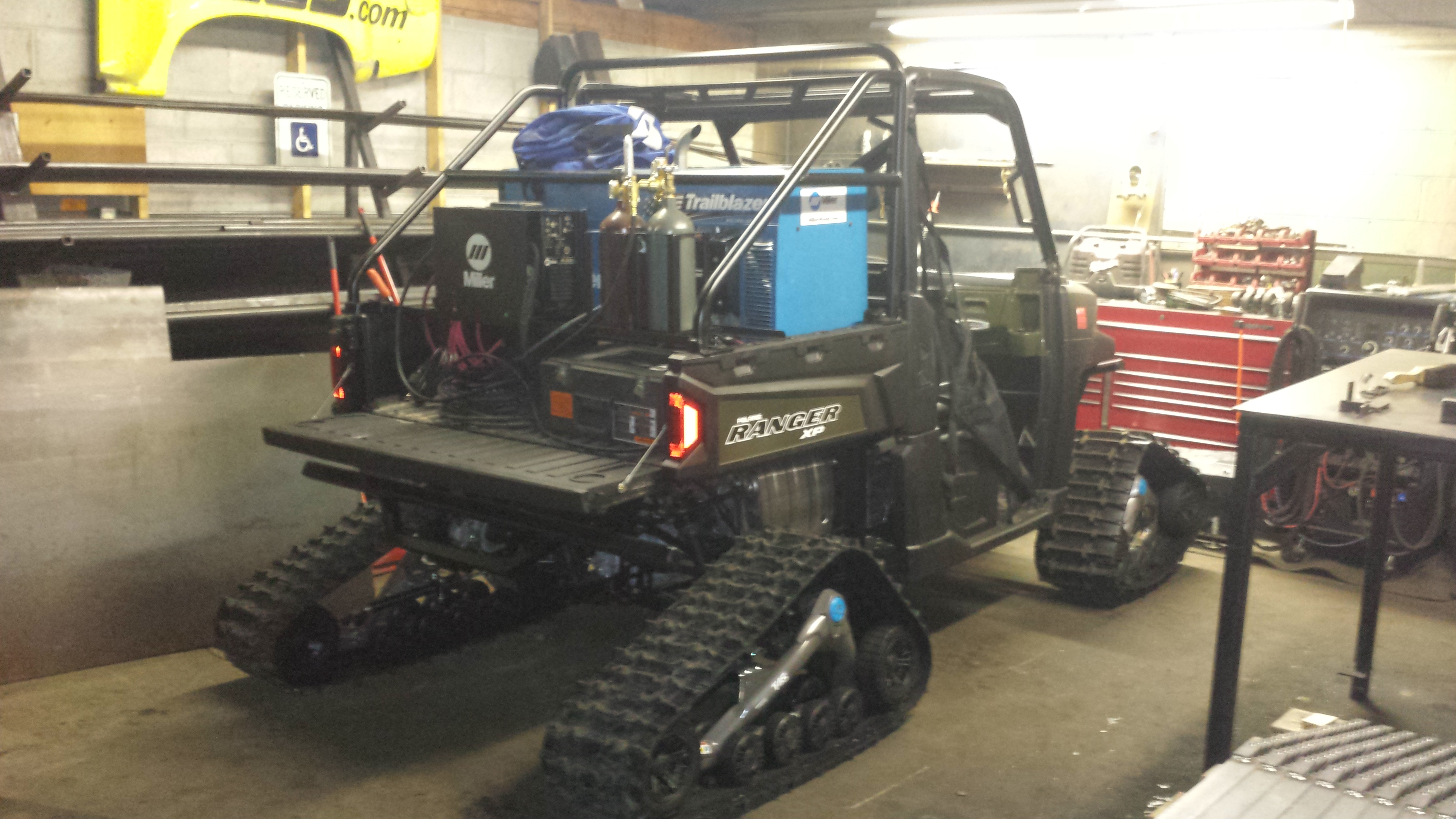 My 2014 Polaris Ranger Mobile Welding Set Up