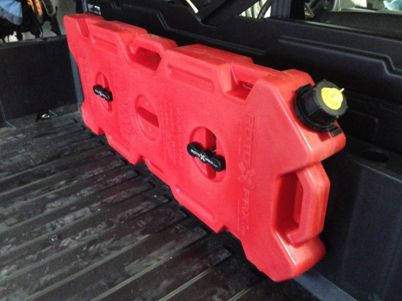 2015 Polaris Ranger >> Homemade Rotopax Bed Mount