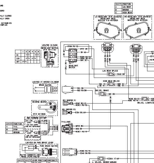 stock headlight switch wiring diagram