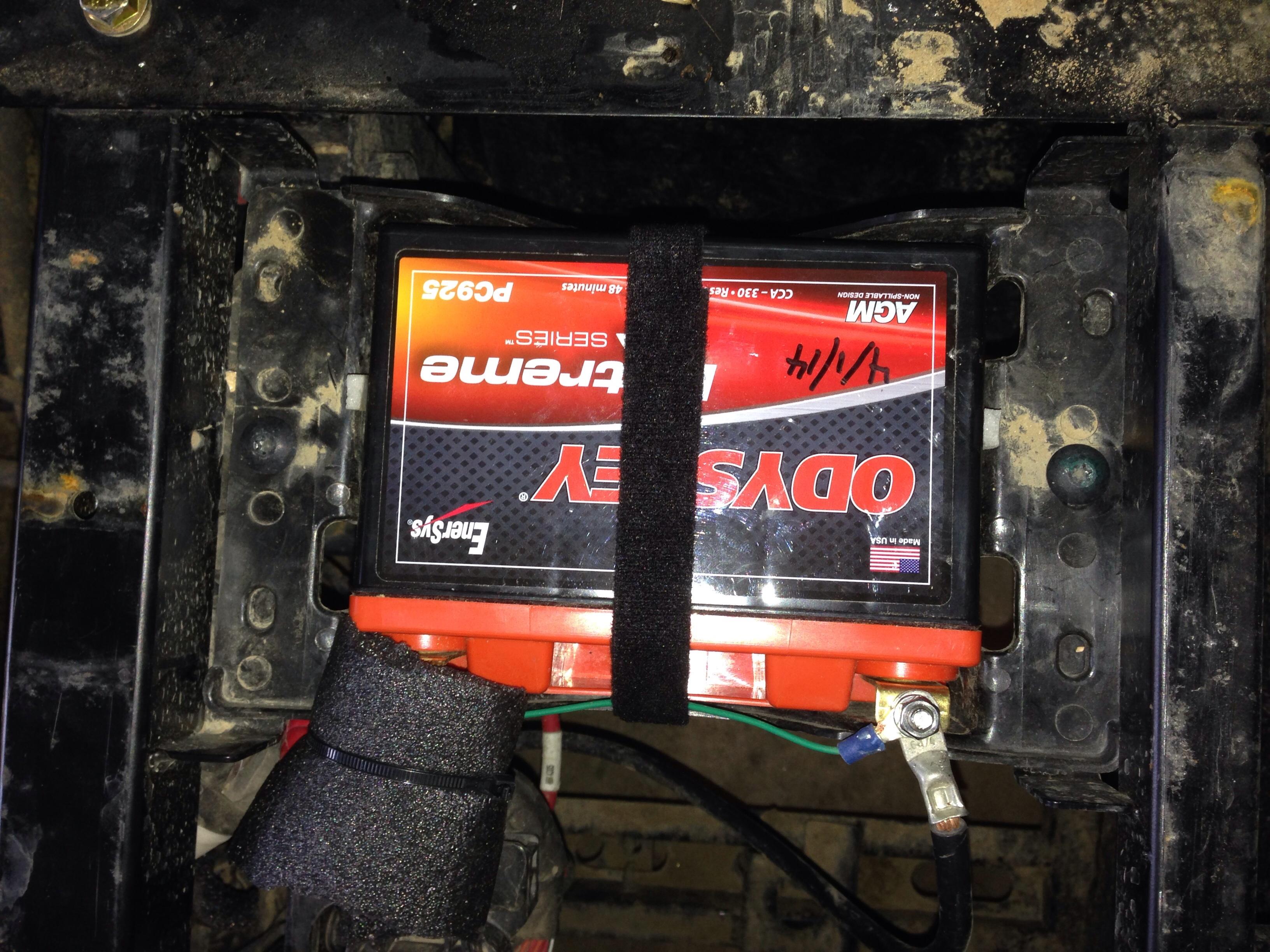 New Odyssey Pc925 Battery Install