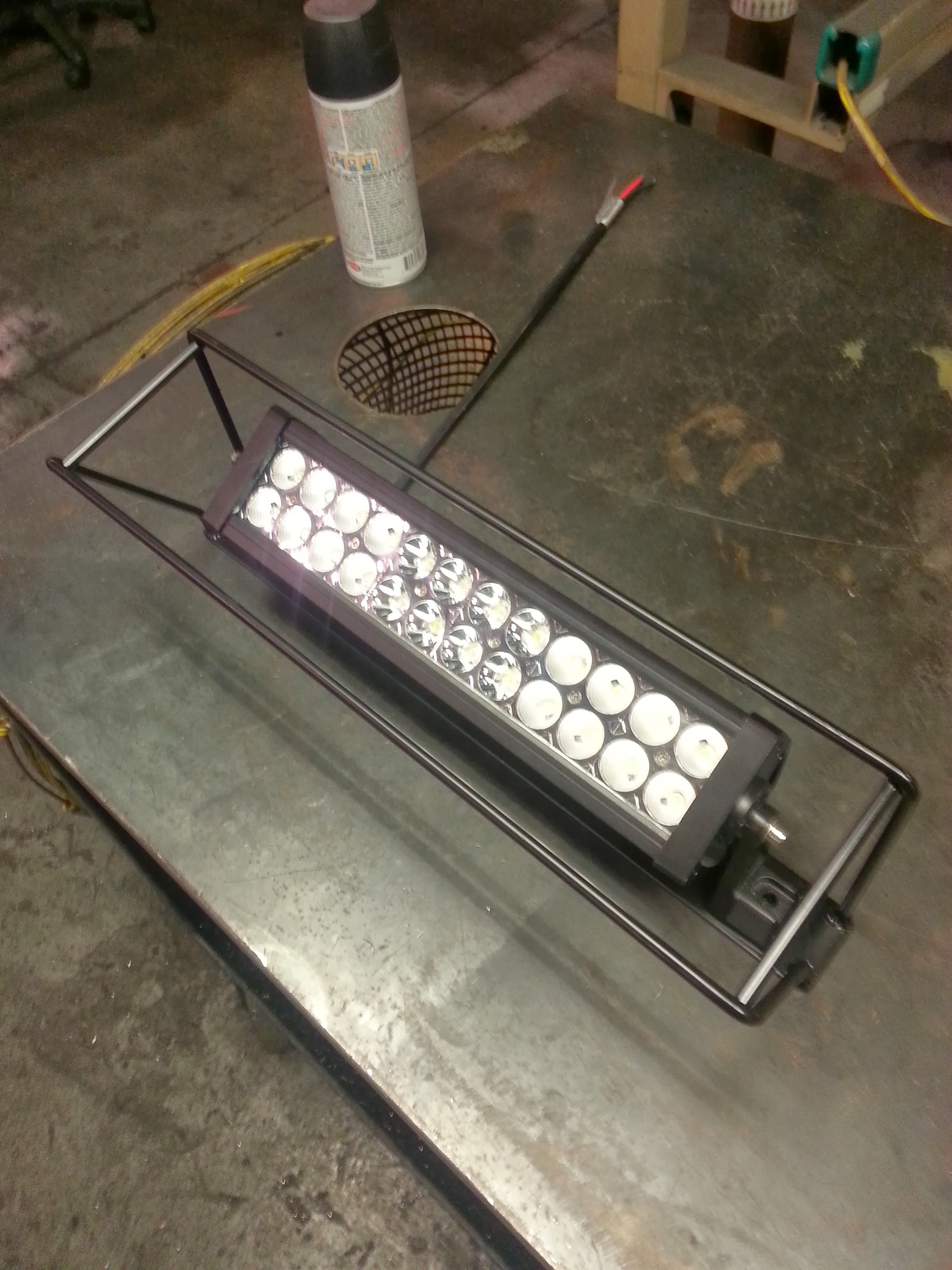 Small led light bar mounted name light bar cageg views 2530 size 10172 aloadofball Image collections