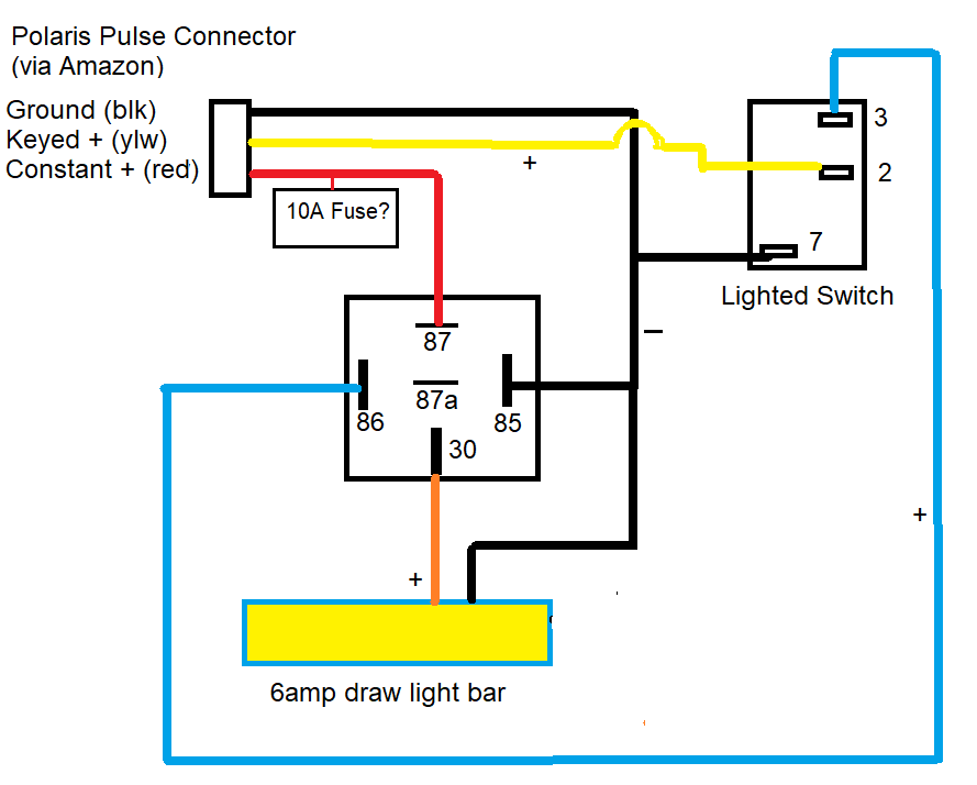 polaris pulse light bar wiring diagram questions | PRC Polaris Ranger Club