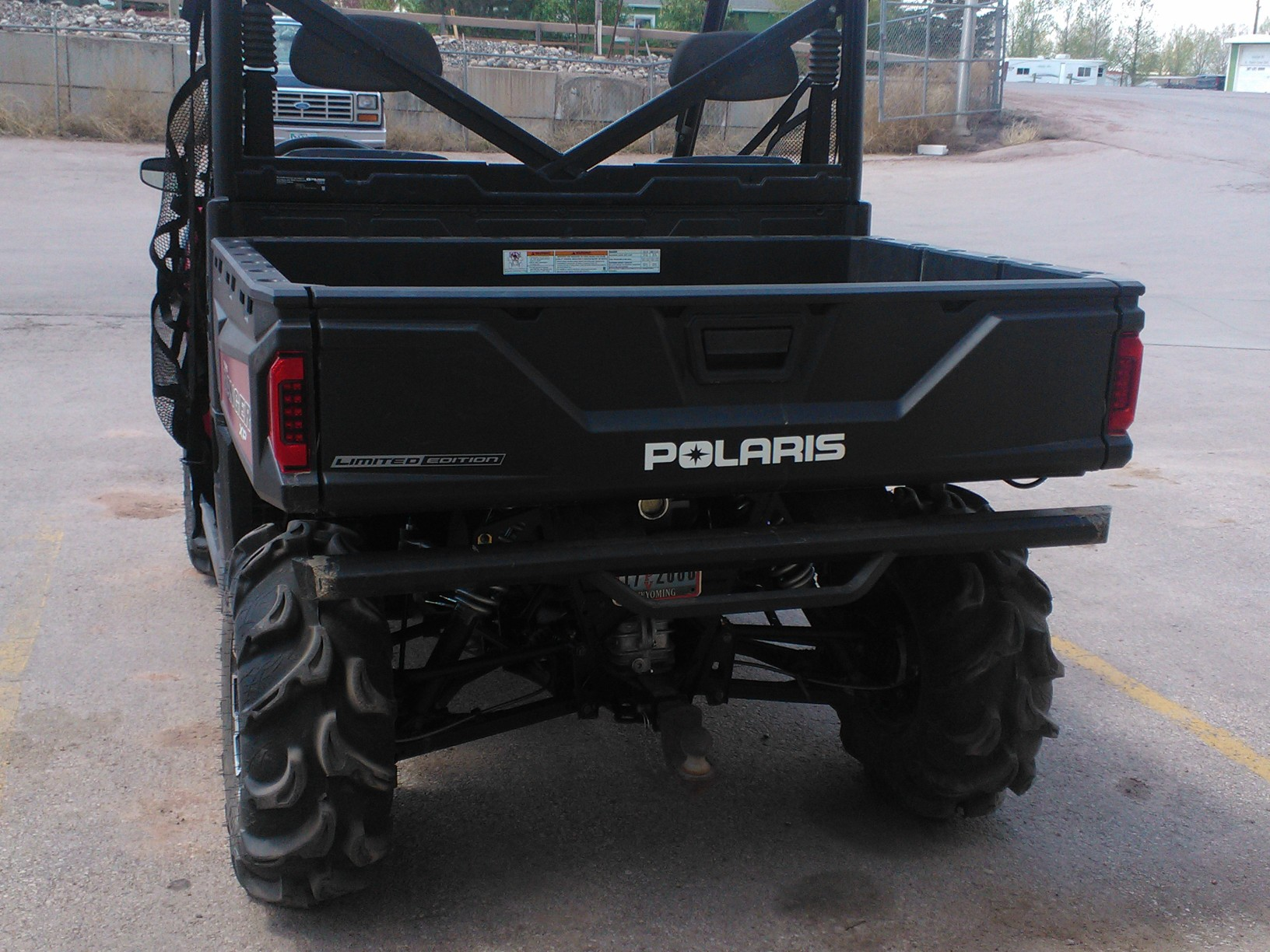 Towing With Polaris Rear Bumper Installed