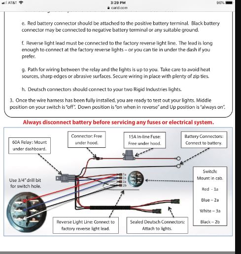 rigid lights wiring diagram problem installing rigid reverse light harness prc polaris  rigid reverse light harness