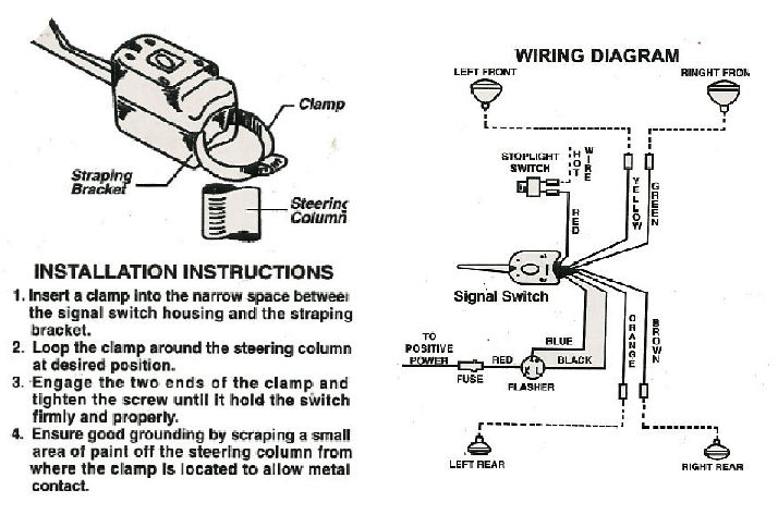 similiar 6 wire turn signal switch wiring schematic keywords 3089d1397220974 turn signal nightmare signal wiring universal large