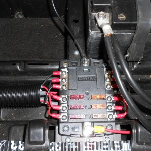 Blue sea fuse block added to manage aux wiring